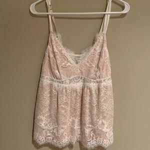 Soma blush pink lace tank